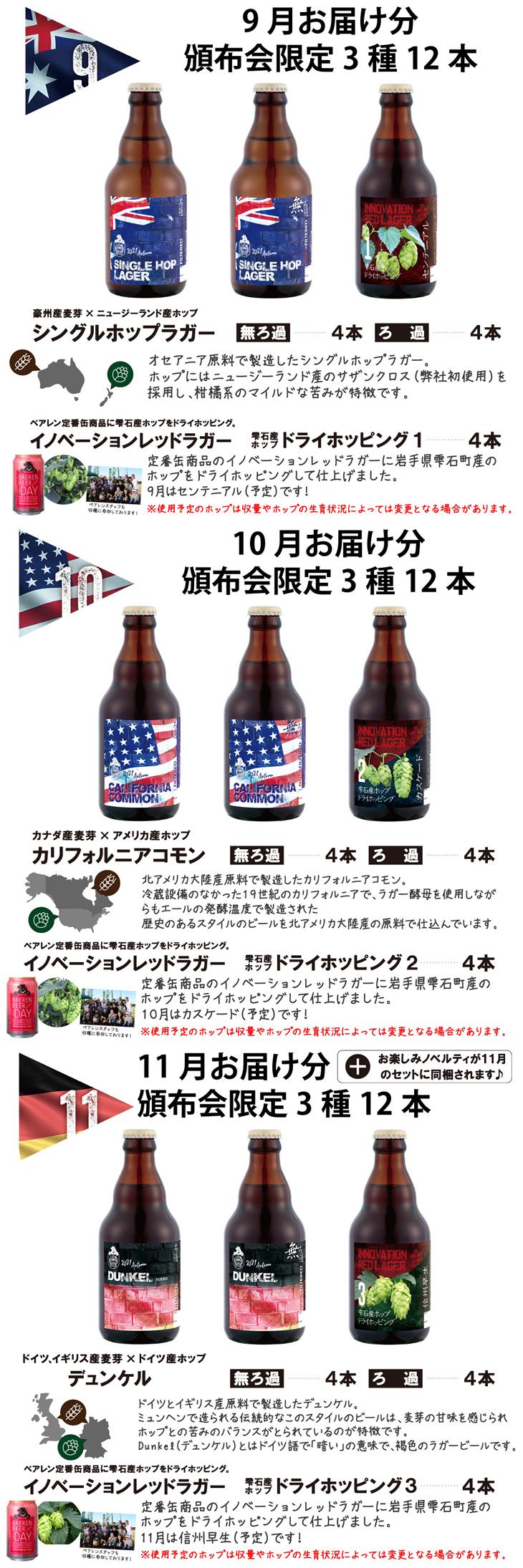 ベアレン 頒布会商品バナー04大2021(9月10月11月まとめ)